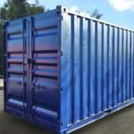 Синий контейнер на ул Бирюсинка